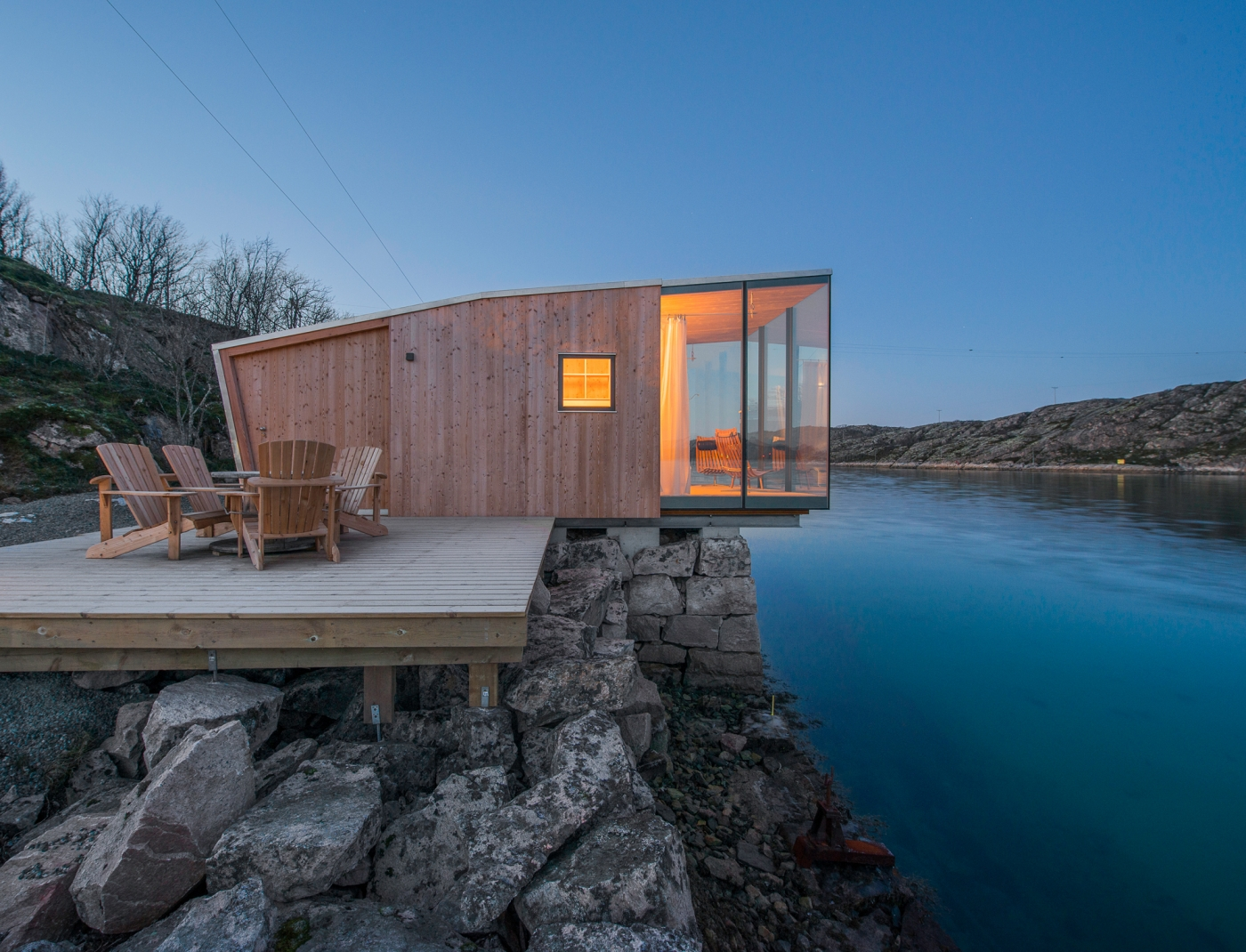 Stinessen arkitektur for Big island cabins